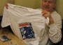 Graham Gill met Swinging Radio England t-shirt
