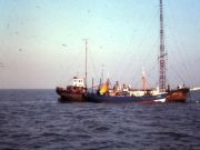 Zendschip Mi Amigo in 1978